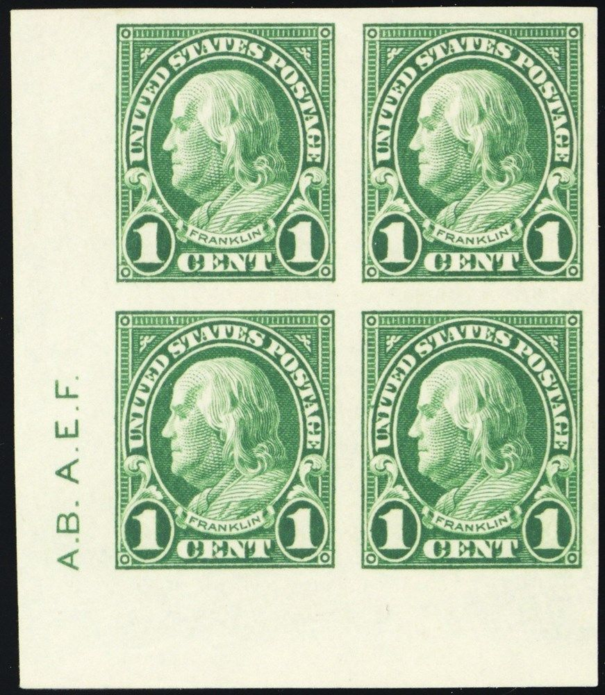 575, Superb NH 1¢ Block With Two Sideographer Initials - Stuart Katz