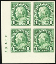 575, Superb NH 1¢ Block With Two Sideographer Initials - Stuart Katz - $75.00