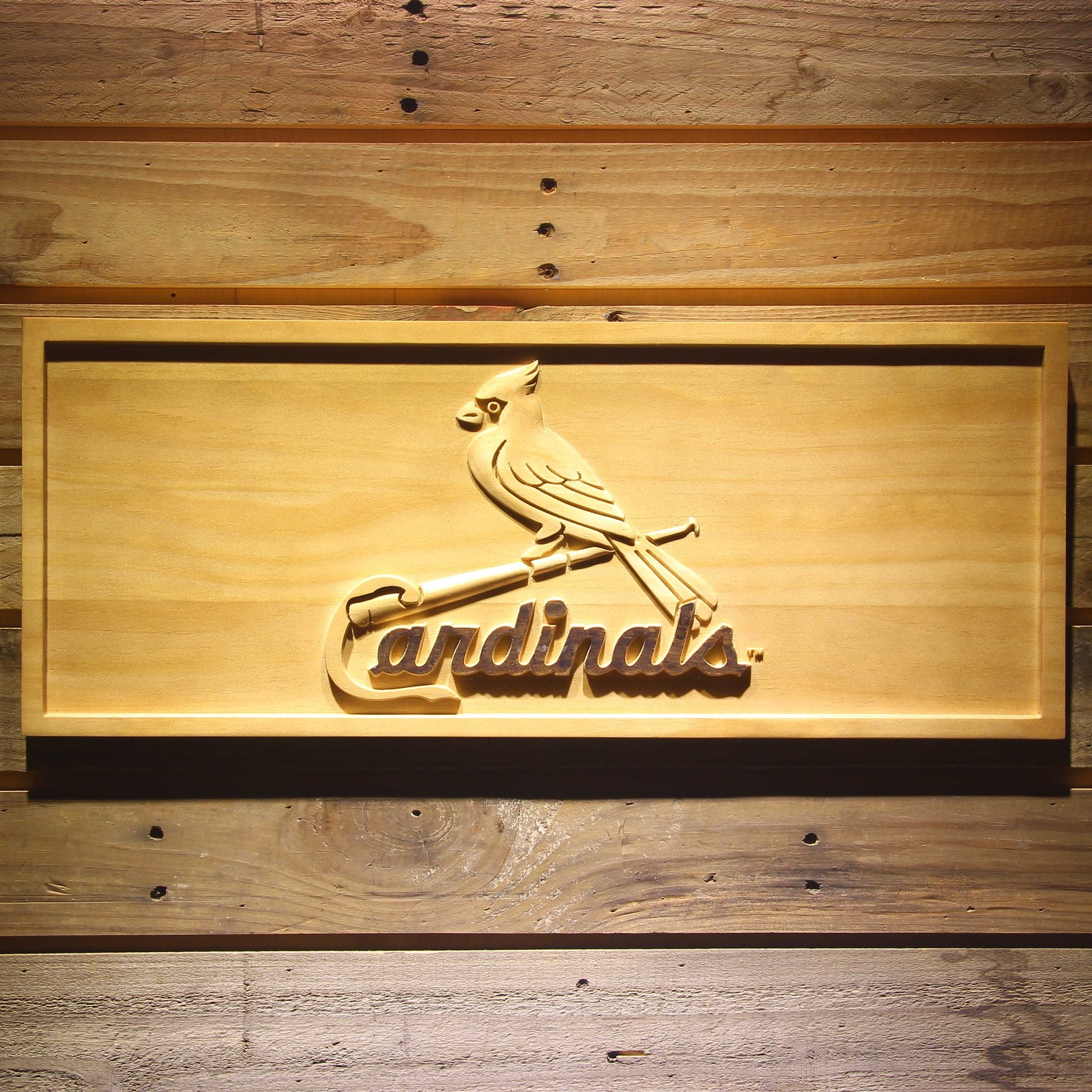 Baseball Home Decor: St. Louis Cardinals MLB Baseball Team Wooden Sign Wall Art
