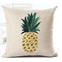 Sofa Pillow Case Pineapple Fruit Decorative Throw Cotton Cushion Cover L... - $11.29