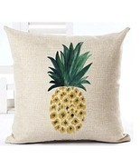 Sofa Pillow Case Pineapple Fruit Decorative Throw Cotton Cushion Cover L... - £10.37 GBP