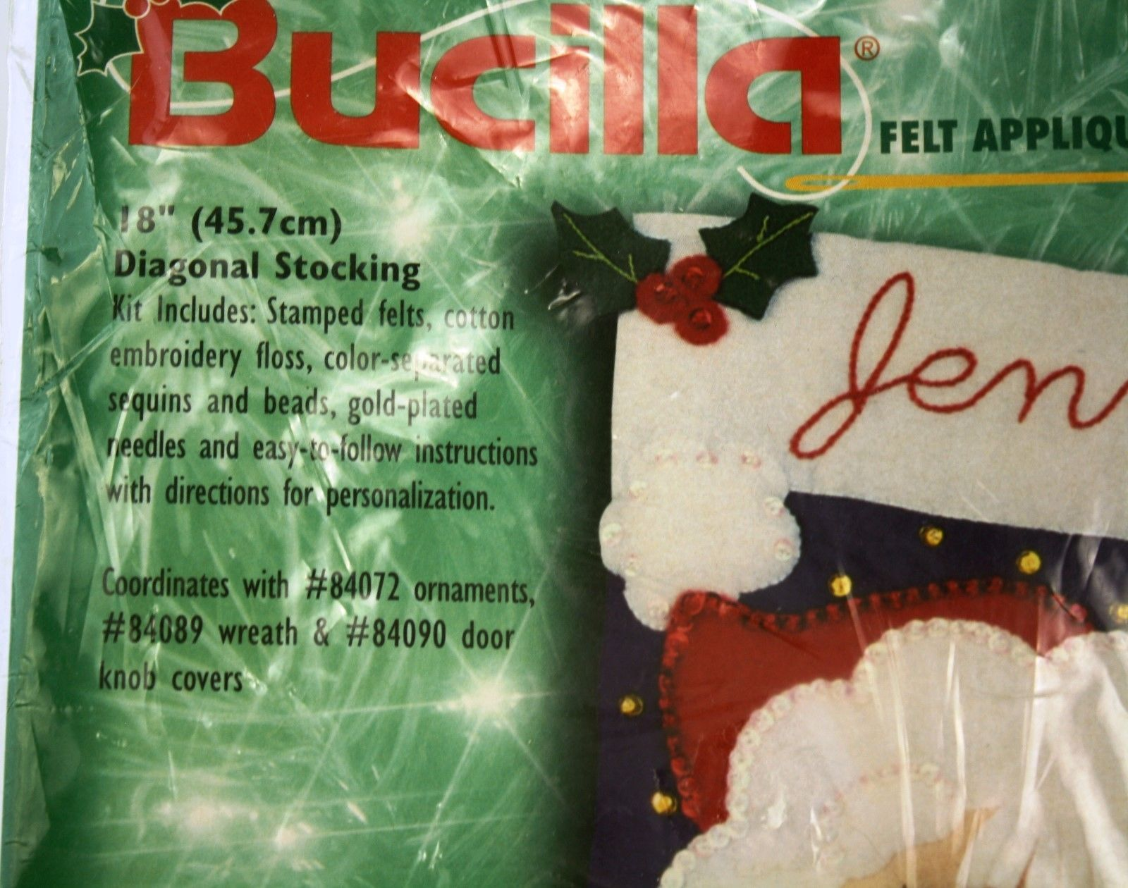 Bucilla 84062 Bearded Santa Stocking Felt Applique