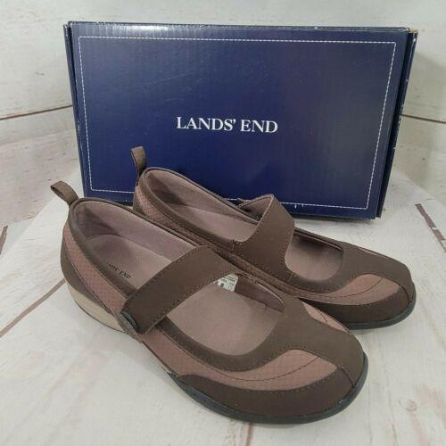Lands' End Women's Shoes Everyday Mary Jane Trekker Dark Chocolate 6M New in Box - $35.64