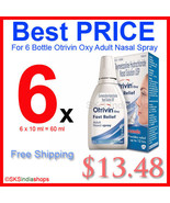6x 10ml Otrivin Oxy Fast Relief Adult Spray - $13.48