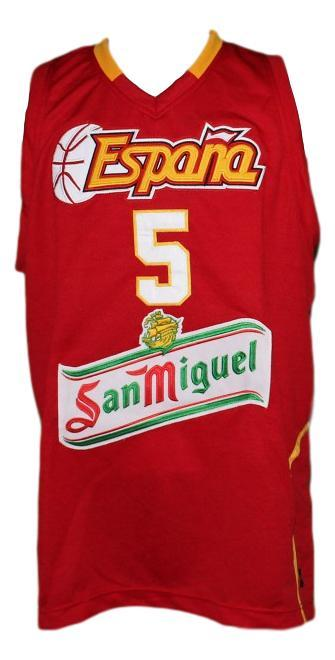 Rudy fernandez team spain espana basketball jersey red   1