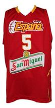 Rudy Fernandez Team Spain Espana Basketball Jersey New Sewn Red Any Size image 1