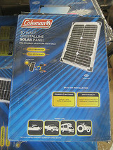 Coleman 30 Watt 12 Volt Crystalline Solar Panel 30W 12V Inc 7 amp Charge... - $79.19