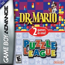 DR.  MARIO / PUZZLE LEAGUE 2-Game Combo (Game Boy Advance) COMPLETE IN B... - $18.69