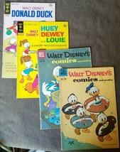 Lot of 4 Dell 231 238 Gold Key Donald Duck Huey Dewey Louie Comics Walt ... - $15.47