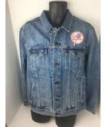 New York Yankees Levi's MLB Patch Trucker Full-Button Jacket Denim XL - $89.09