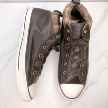 Converse All Star Chuck Taylor Men's Street Mid Leather Sneakers Brown Size 11 - $38.68