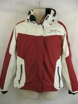Orage Riders Edge Ski Snowboard Jacket Red White Black Enhance Vision Hood Large - $69.29