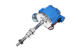 SBF Ford Small Block 351W Windsor HEI Ignition Blue Cap Distributor 65K Coil image 6