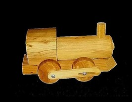Toy Train Handmade  AB 654 Vintage Wooden image 2