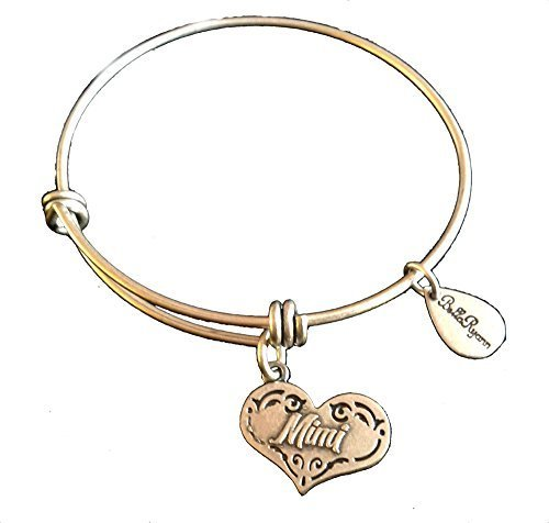 Bella Ryann Mimi Heart New Silver Charm Bangle Bracelet