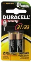 Duracell 12 Volt Alkaline Alarm Remote Battery MN21 / A23 2 Pack - $6.09