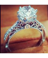 2.6 CT Diamond Engagement Ring Round Cut D/VVS1 14K White Gold Over Not ... - $73.19
