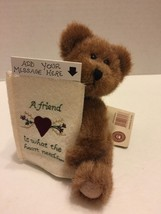 "Boyds Plush Bear Jodie Head Bean Collection 6"" Message for A Friend Retired - $7.69"