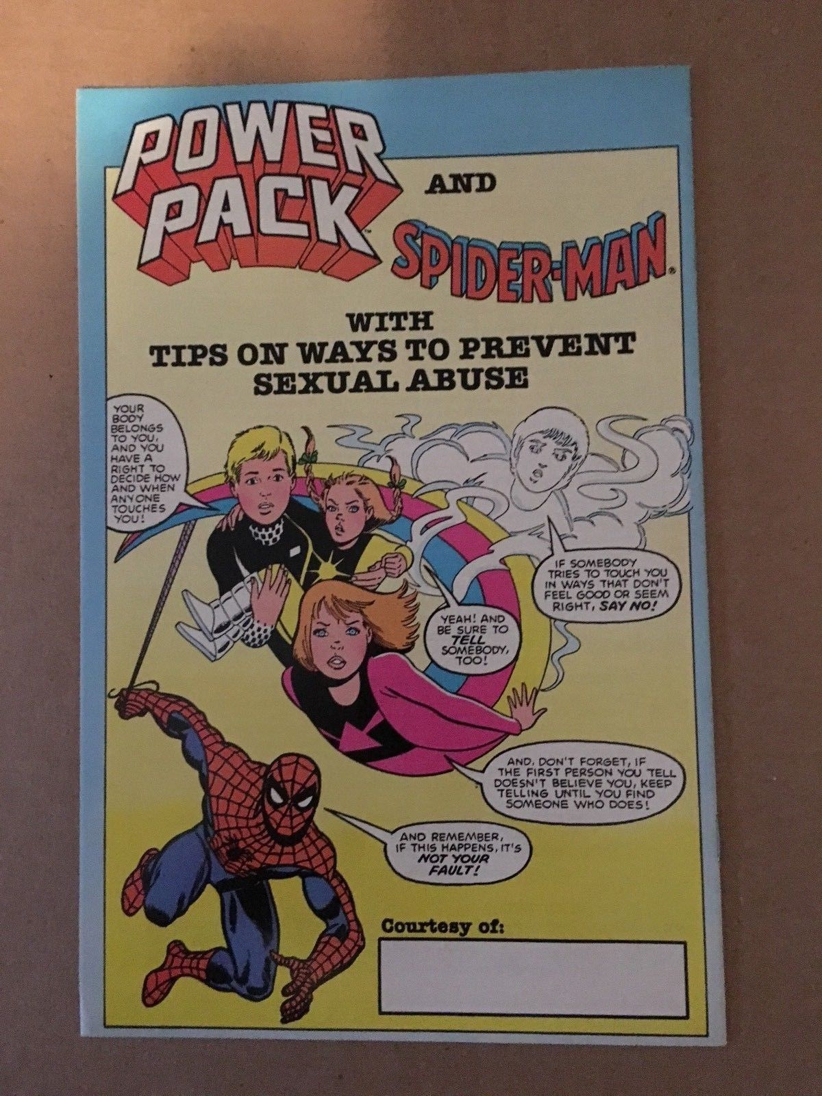 Spider-Man & Power Pack 1984 Marvel Promotional Comic Book VF Condition