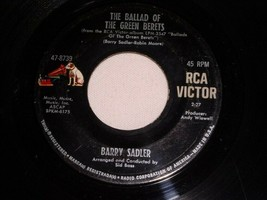 BARRY SADLER  BALLAD OF THE GREEN BERETS LETTER FROM VIETNAM 45 RPM RECO... - $14.99