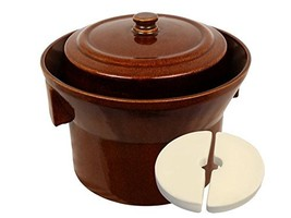 5 L (1.3 Gal) K&K Keramik German Made Fermenting Crock Pot Kerazo FORM_1 - $2.573,27 MXN