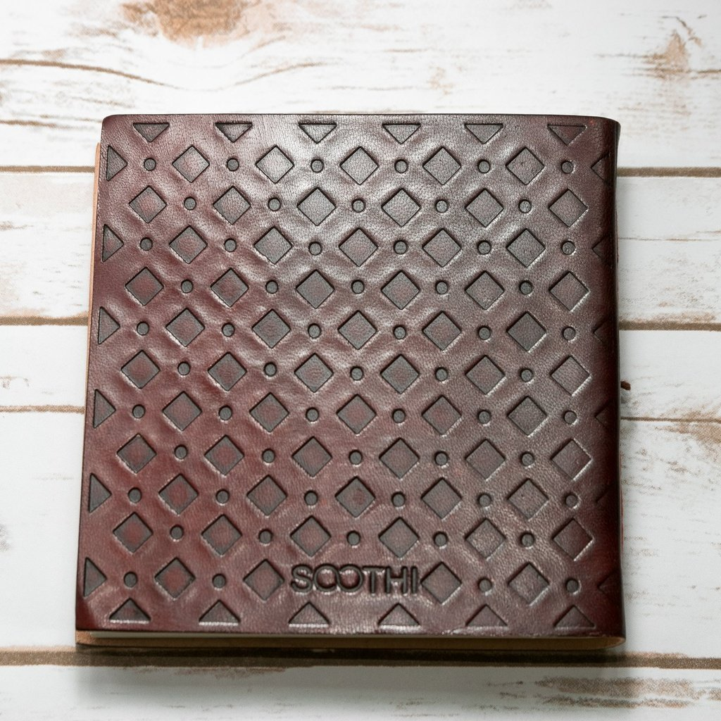 Stars Square Handmade Leather Journal
