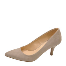 Qupid Portia 01 Taupe Women's Faux Suede Pointed Toe Pump - $28.95