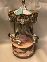 "Resin Carousel Horse Decor Broken 10"" Tall - $9.90"