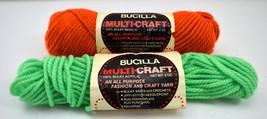 Bucilla Multi-Craft Bulky Acrylic Yarn - 1 Skein Orange + Partial Skein Green - $5.94