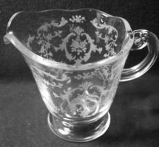 Navarre Etching No. 327, Creamer made by Fostoria Glass Co., 1937-82 - $10.00