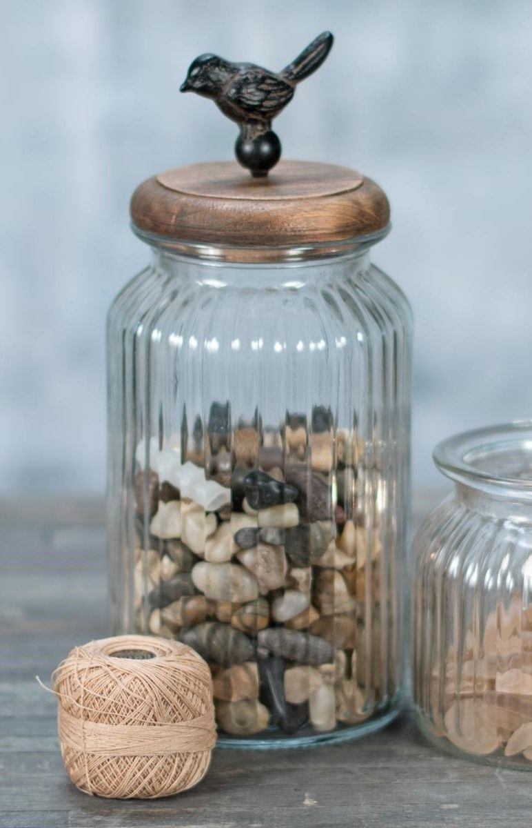 Tall Glass Container with Bird Lid - Kitchen and 50 similar items