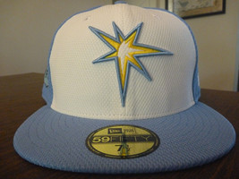 TAMPA BAY RAYS NEW ERA 59FIFTY 2017 FLORIDA LEAGUE 2 TONE FITTED CAP SIZ... - $508,09 MXN