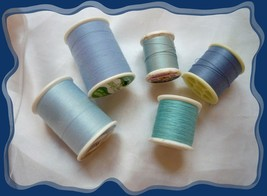 Blue Shades of Assorted Thread, Various Companies, Used - $3.75