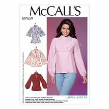 McCall Patterns M7659E50 Misses Full Sleeves and Back Zipper Tops - $2.93
