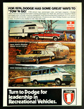 Vtg 1974 Dodge auto car truck ad advertisement print  - $13.99