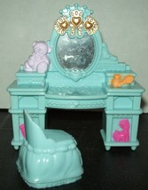 Fisher Price Loving Family Dollhouse Blue Vanity Chair Stool Dresser Ta... - $14.84