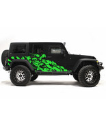 Custom Vinyl Decal NIGHTMARE Wrap Kit for Jeep Wrangler Rubicon 2007-2016 GREEN - $140.20