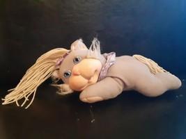 VTG Cabbage Patch Kids Crimp Curl Pets~ Grey & Cream Cat Kitten~ CPK Hasbro 1992 - $9.89