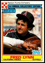 1984 Topps Ralston Purina #29 Fred Lynn NM-MT California Angels  - $2.50