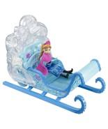 Frozen Disney Princess Swirling Snow Sleigh Vehicle/Princess Anna Doll M... - $30.64