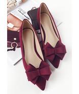 Blush Bow Wedding/Bridal Shoes/Red Bridesmaid Flat Shoes Size 4,5,6,7,8,... - £30.95 GBP