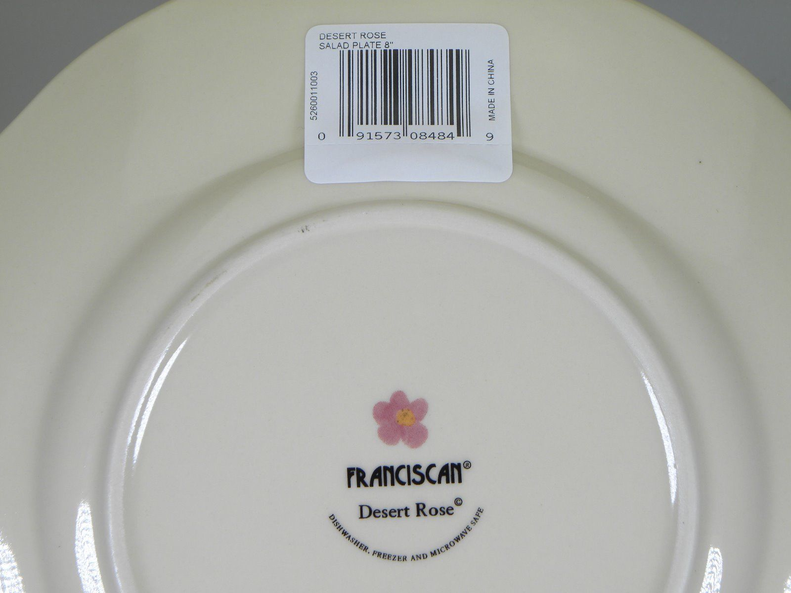 Franciscan Desert Rose Salad Plates Set of 8 BRAND NEW PRODUCTION
