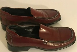 Womens Coach Cristol Red Leather Slip On Loafers Shoes Size 6.5 B - $19.79