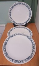 """Lot 3 replacement Corelle OLD TOWN BLUE Onion flowers 10"""" Dinner Plates  - $14.93"""