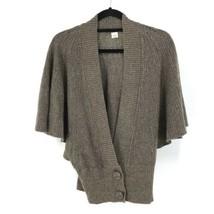 Anthropologie Women's Sz S Batwing Sleeve Cardigan Sweater Brown Marled ... - $32.71