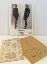Vogue Sewing Pattern 2569 Vtg Anne Klein 8 10 12 Dress Semi Fitted Wrap FF - $13.81