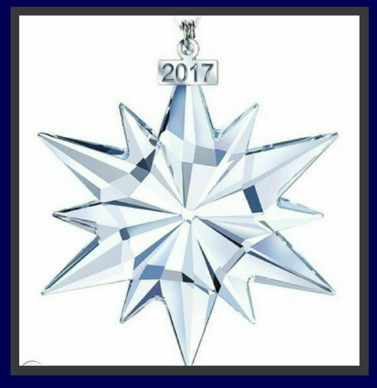 NEW Swarovski Clear Crystal Christmas Ornament 2017 Christmas Snowflake