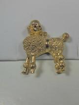 Textured Gold Tone Poodle Pendant - $10.88