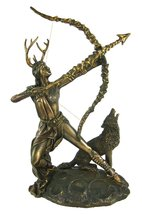 Bronzed Finish Artemis Moon Goddess Greek Statue Diana - $49.99