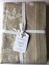 """Williams-Sonoma Ombre Floral Jacquard Tablecloth ~70"""" X 108""""~Natural~ - $115.95"""